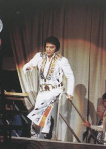 Elvis enters the stage